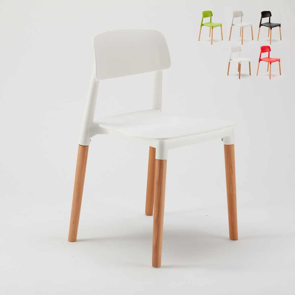 Küchestuhl Bistrostuhl aus Polypropylen und Holz Design Belloch Barcellona - offert