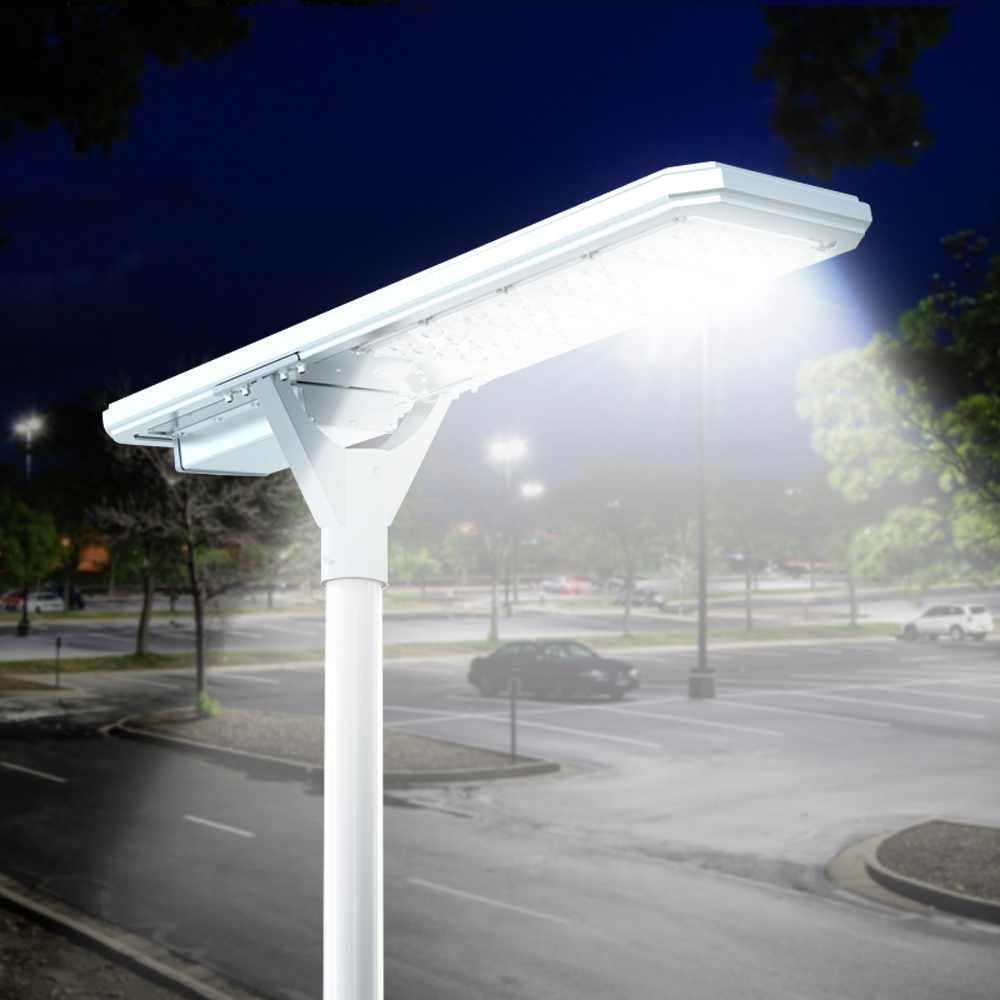 Straßenlampe 4000 Lumens Solarplatte und Sensoren Photovoltaik Megatron - Rabatt