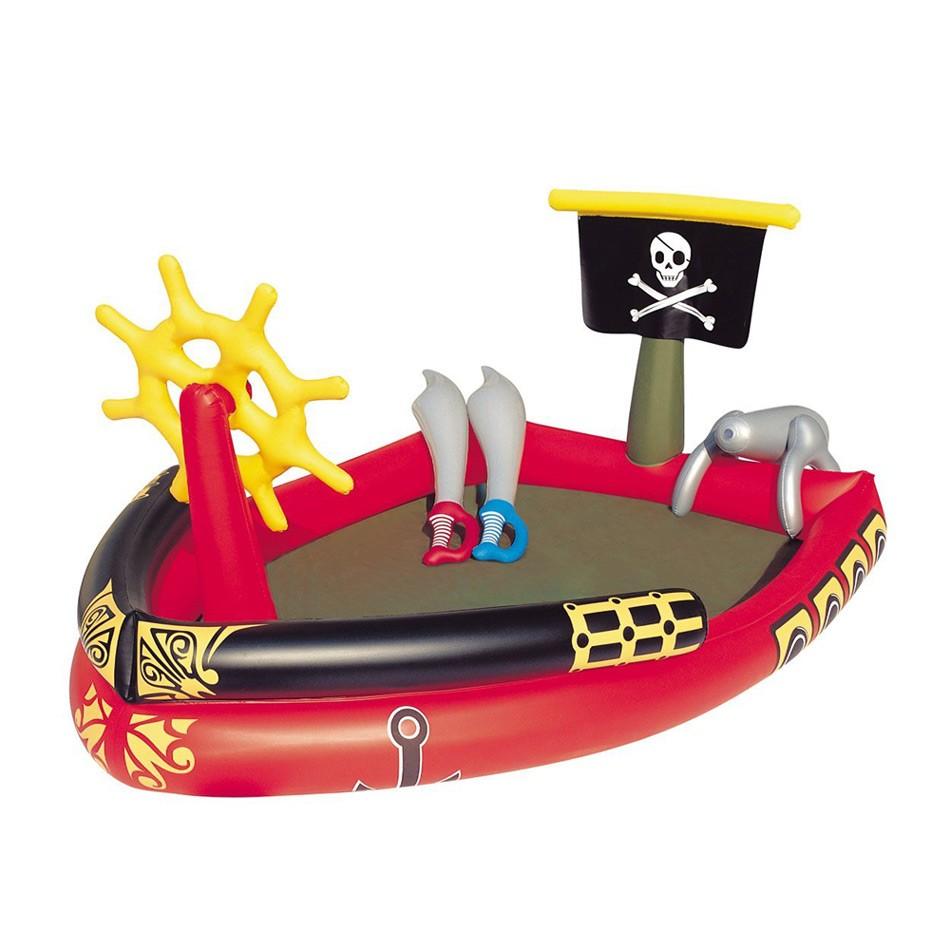 Bestway 53041 Kinderbecken Schiff Der Piraten Aufblasbar Play Center - am besten