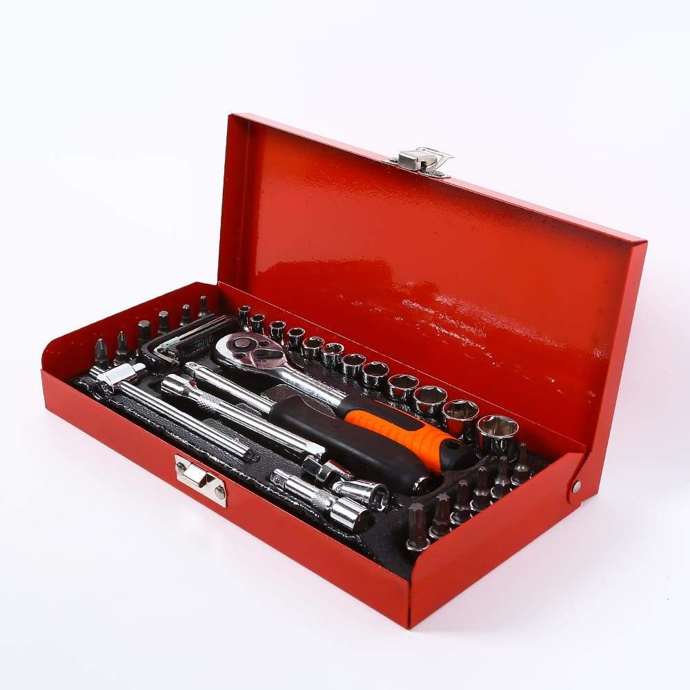 Werkzeugkoffer Ratschenschlüssel Steckschlüssel Schraubendreher 99 Stück Tx - Interieur