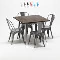 Quadratische Tisch und Stühle In Metalldesign Tolix Industrial Jamaica