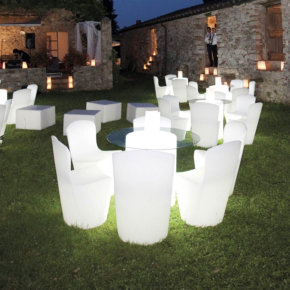 Leuchtender Moderner Designstuhl b für Küche Bar Restaurant und Garten Slide Zoe Rg - am besten