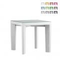 Quadratischer Tisch 75x75 Slide Glasplatte für Bar Restaurant Garten Gino