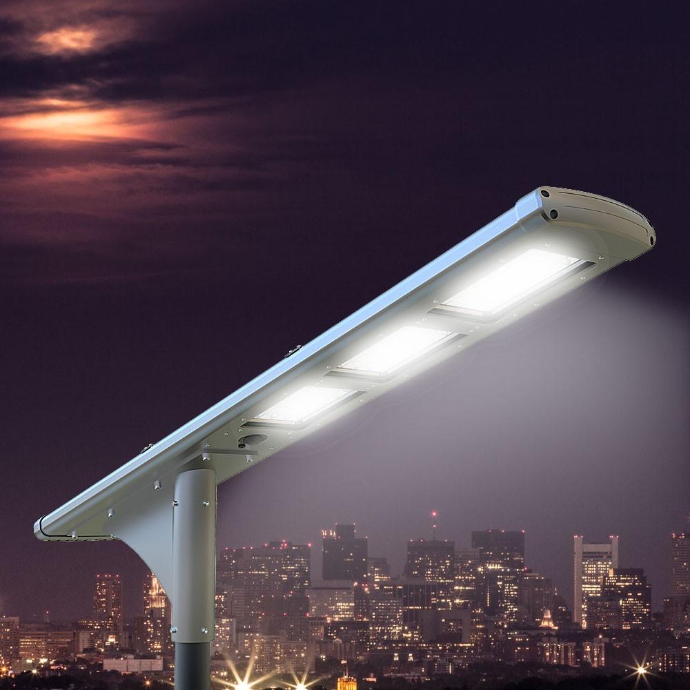 Solar-Straßenlaterne 72 Super Led 5000 Lumen für Straßen und Parkplätze Fullmoon - Verkauf