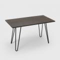 Industrieller Esstisch 120x60 design tolix Metall Holz Rechteckig Prandium