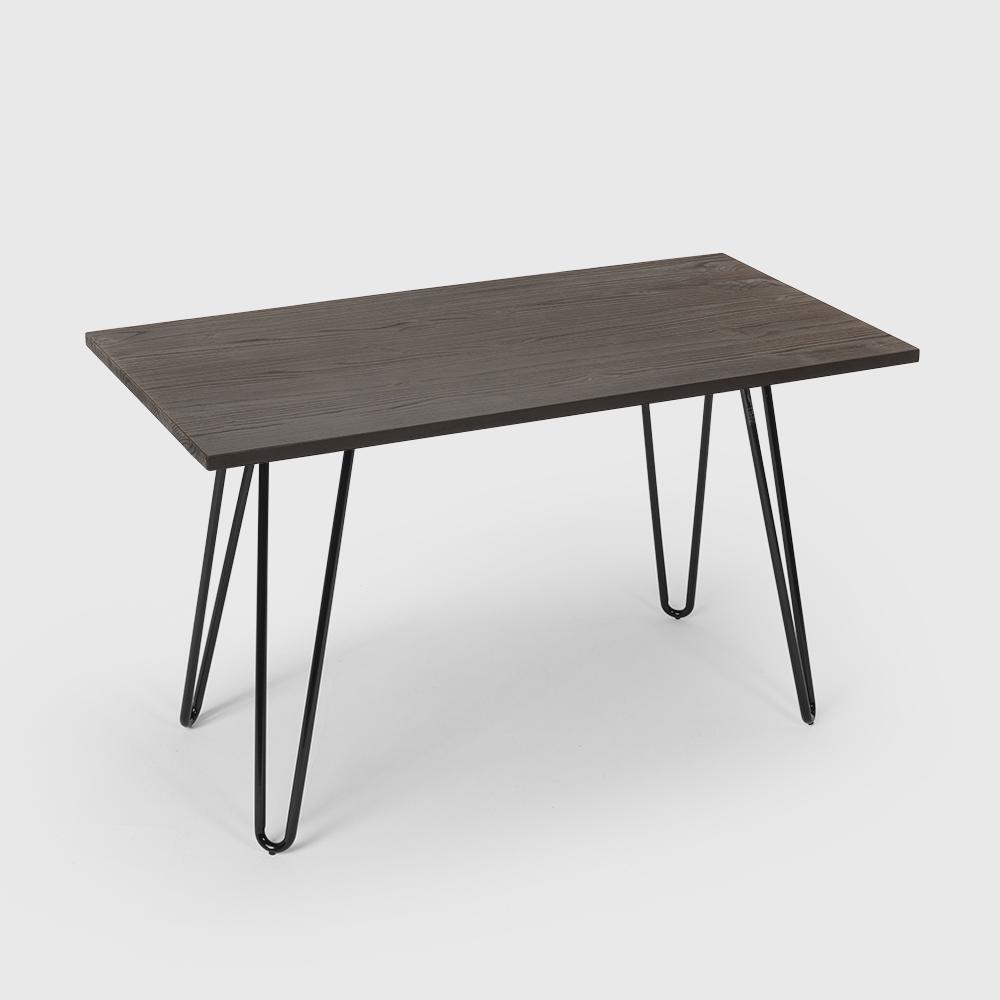 Industrieller Esstisch 120x60 design tolix Metall Holz Rechteckig Prandium - Rabatt