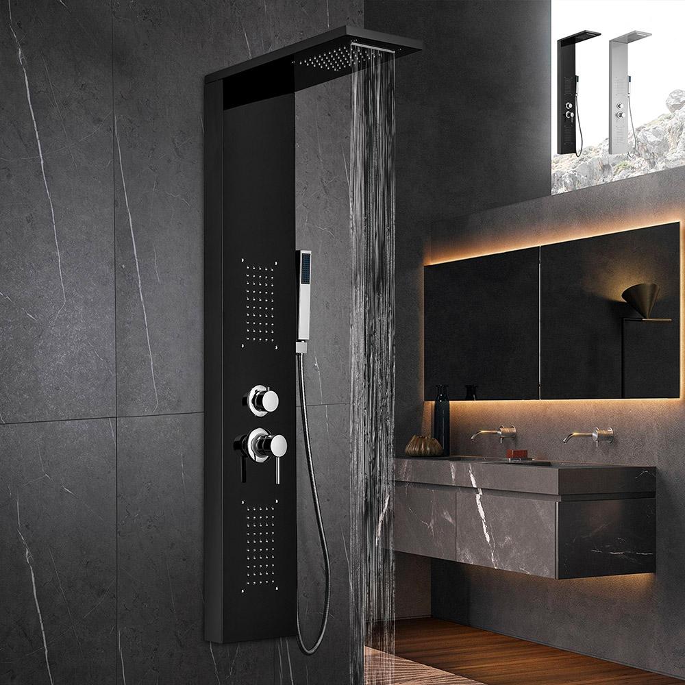 Stahlduschsäulenplatte mit Hydromassage-Wasserfallmischer Sirmione - Preis