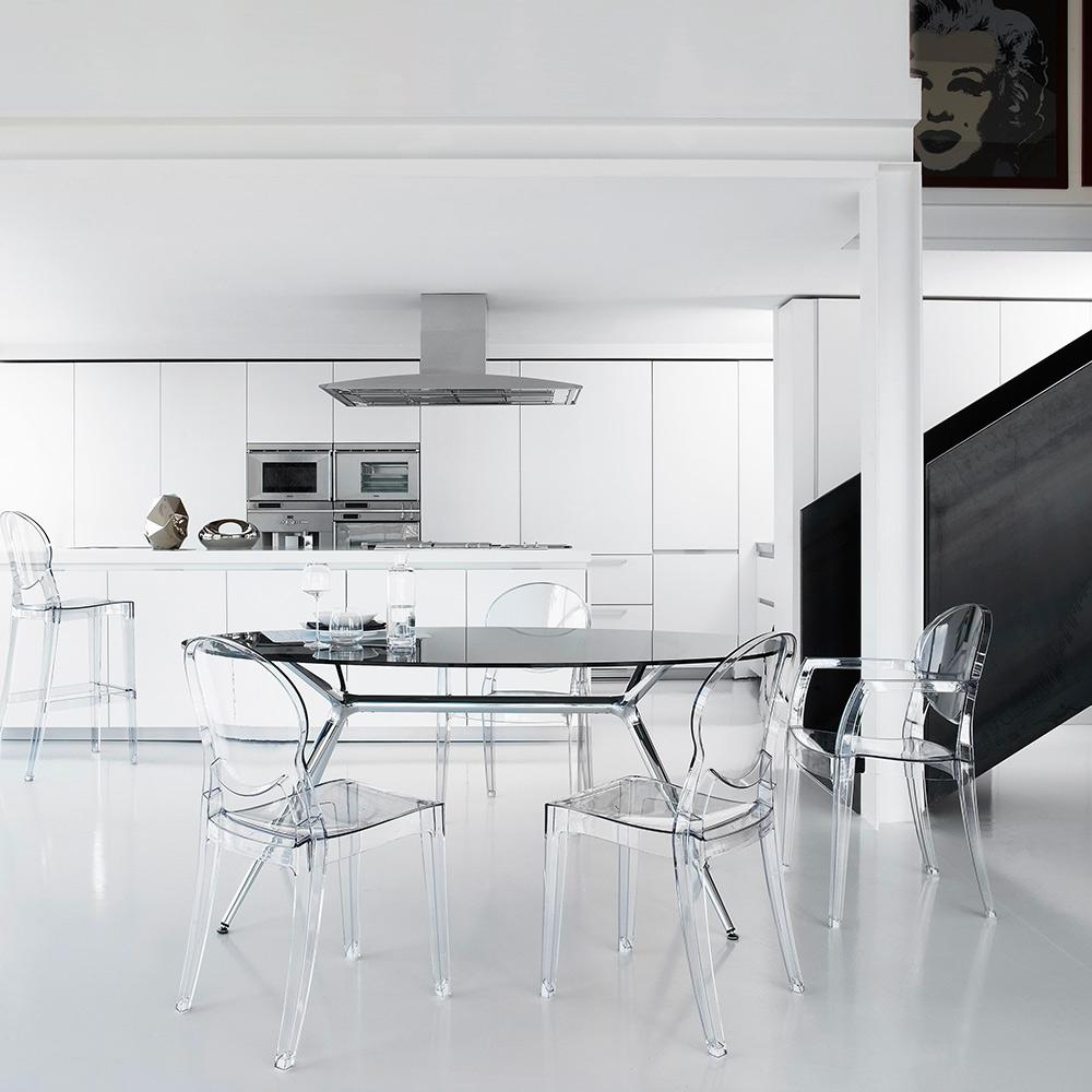 Sedie Design Moderno Trasparente Per Cucina Sala Pranzo Bar Ristorante Scab Igloo