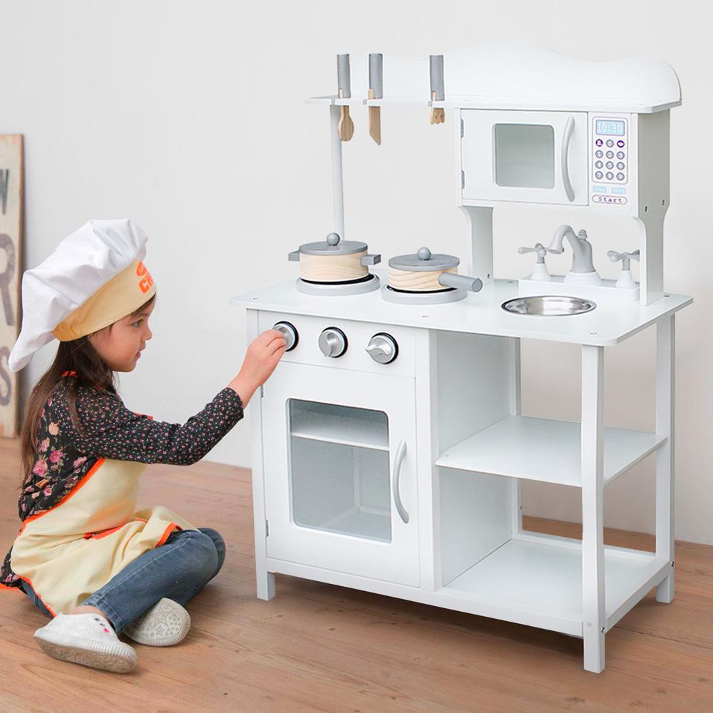 Chef Show Speelkeuken Voor Kinderen In Hout Met Potten En Accessoires