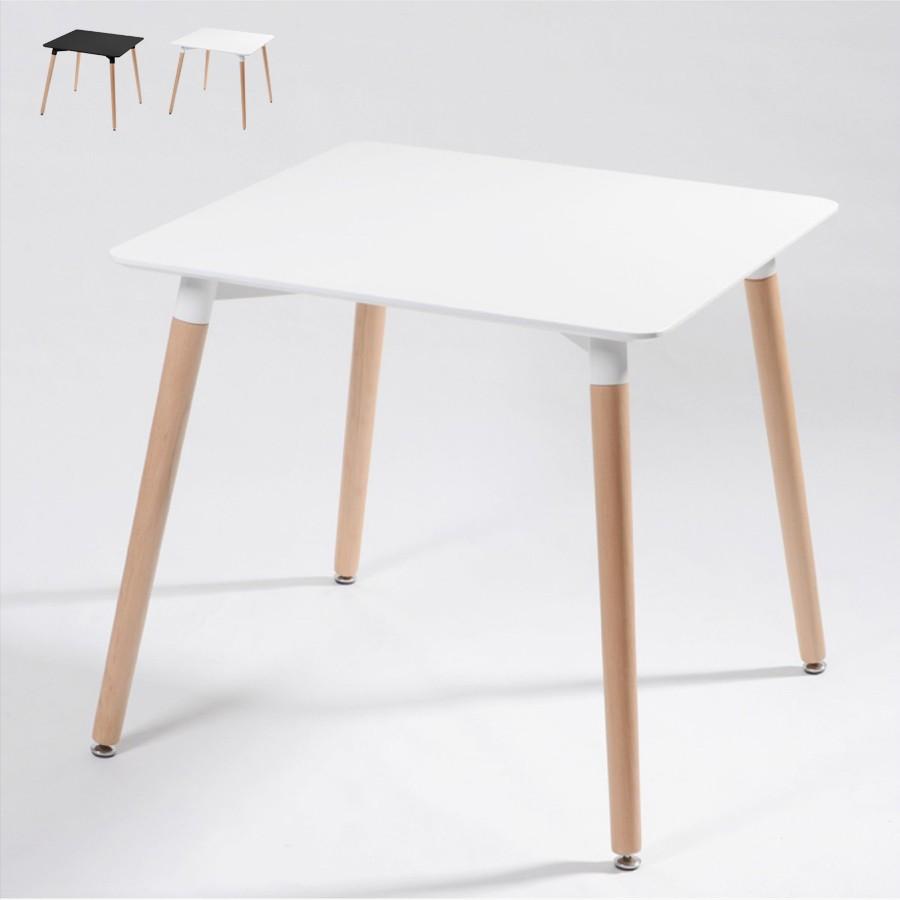 Tische aus Holz und Polypropylen 80x80 Bar Pub Restaurant Wooden - Rabatt
